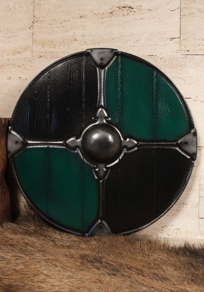 Gaelic Collection Rundschild grün/schwarz Maße:  Durchmesser: Ø 79cm  Gewicht:  1,30kg  Material:  Polyäthylen Über dieses Produkt: Forgotten Dreams Produkte zeichnen sich durch überragende Qualität aus, die durch Leidenschaft,...