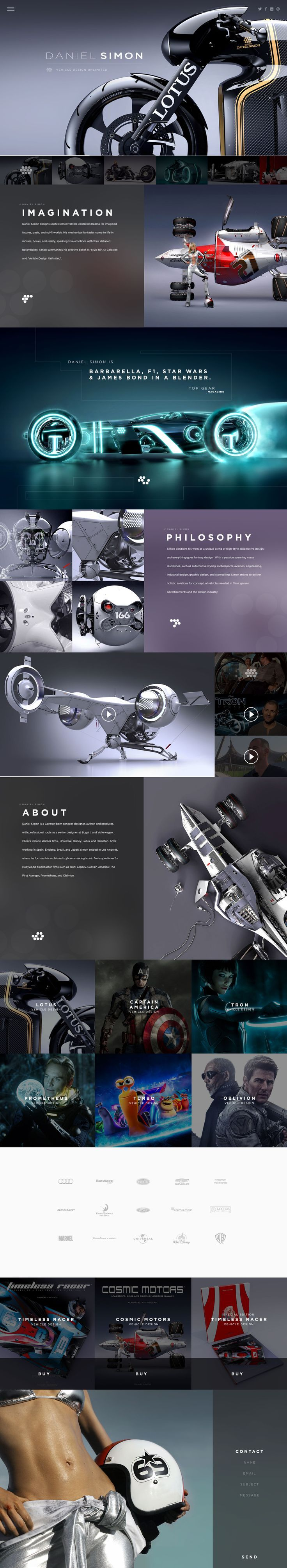 #Awesome #Inspiration Daniel Simon Website by Lance Culbreth