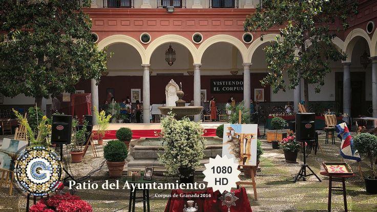 GRANADA | CENTRO | Patio interior del Ayuntamiento de Granada. Corpus 2016.