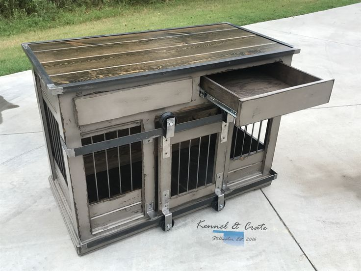 Designer Indoor Dog Kennels Replace Your Wire Dog Crate With A Beautiful Piece Of Functional Furniture Great Conversat Meubles Pour Caisse De Chien Caisse Pour Chien Diy Et Chambre Pour Chien