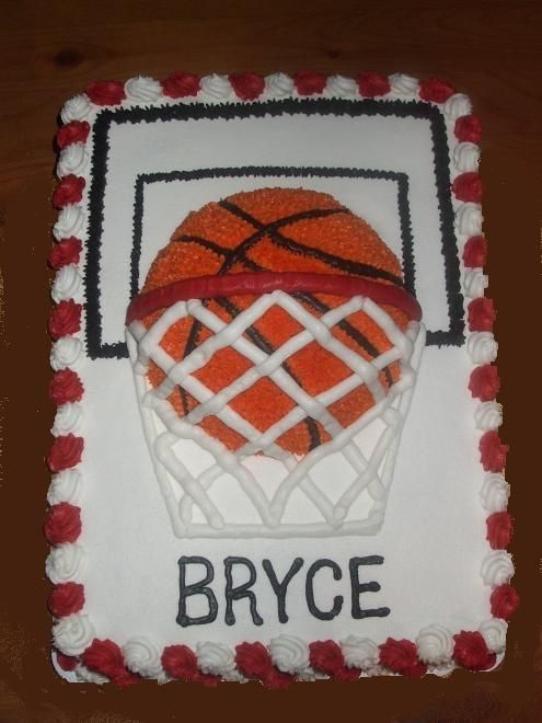 basketball cake-totally making this for D