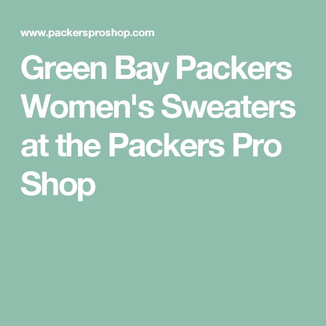 Green Bay Packers Women's Sweaters at the Packers Pro Shop