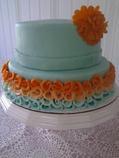 Mint and  Orange cake