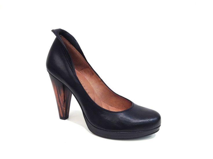 Hispanitas Schuhe High Heels Pumps Damenschuhe Leder schwarz black leather shoes