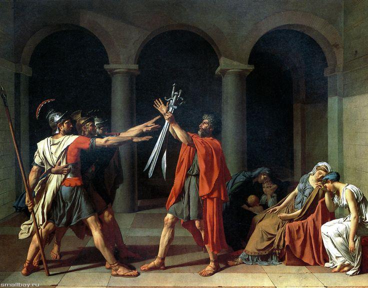 Жак-Луи Давид. Клятва Горациев. 1784 г.