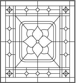 stained glass patterns for free: Stained glass flower patterns
