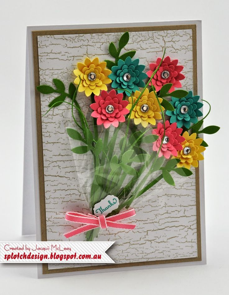 Thanks a Bunch.....of Flowers Card