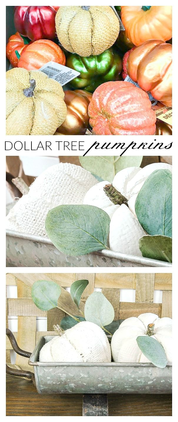 A Super Inexpensive Way to Update Dollar Tree Pumpkins | Little House of Four - Creating a beautiful home, one thrifty project at a time.: A Super Inexpensive Way to Update Dollar Tree Pumpkins