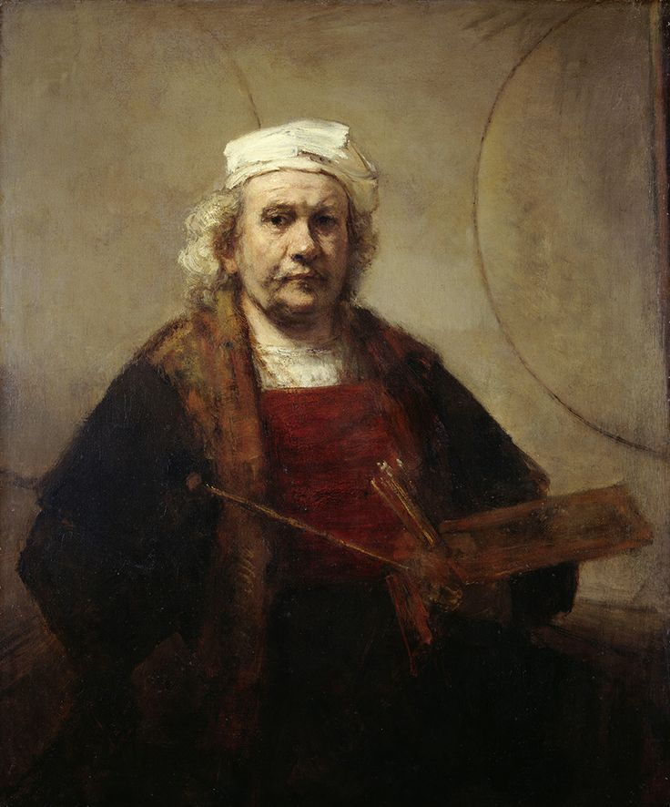 Self portrait with two circles, Rembrandt Harmensz. van Rijn, c. 1665-1669. The Iveagh Bequest, Kenwood House, London