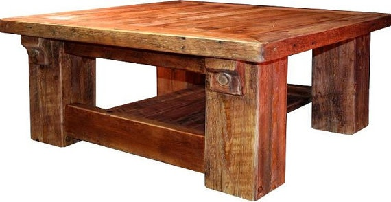 Rustic Hand Sawn Cabin Coffee Table By Redemptionwoods On Etsy House Ideas