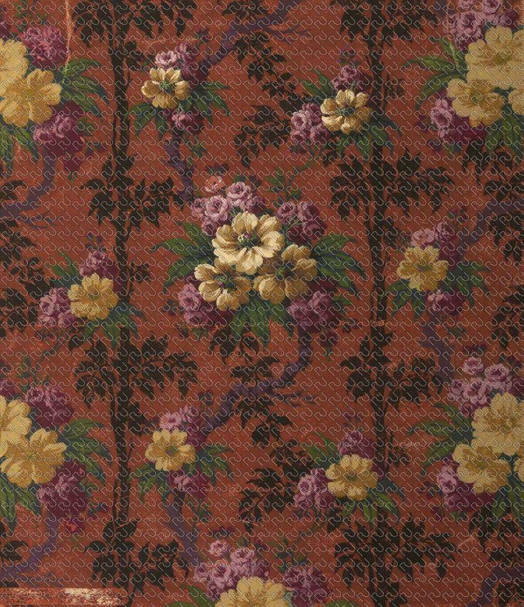 522 - Painting tapestry ramage rose - RU Digital