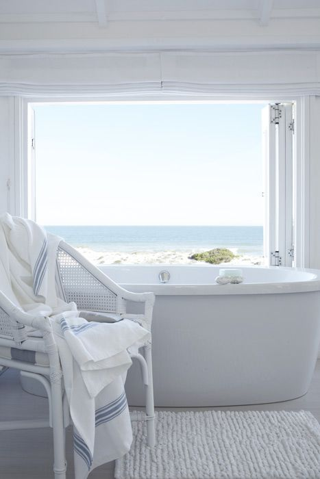 A bath with a sea view... The White House Beach Villa in South Africa