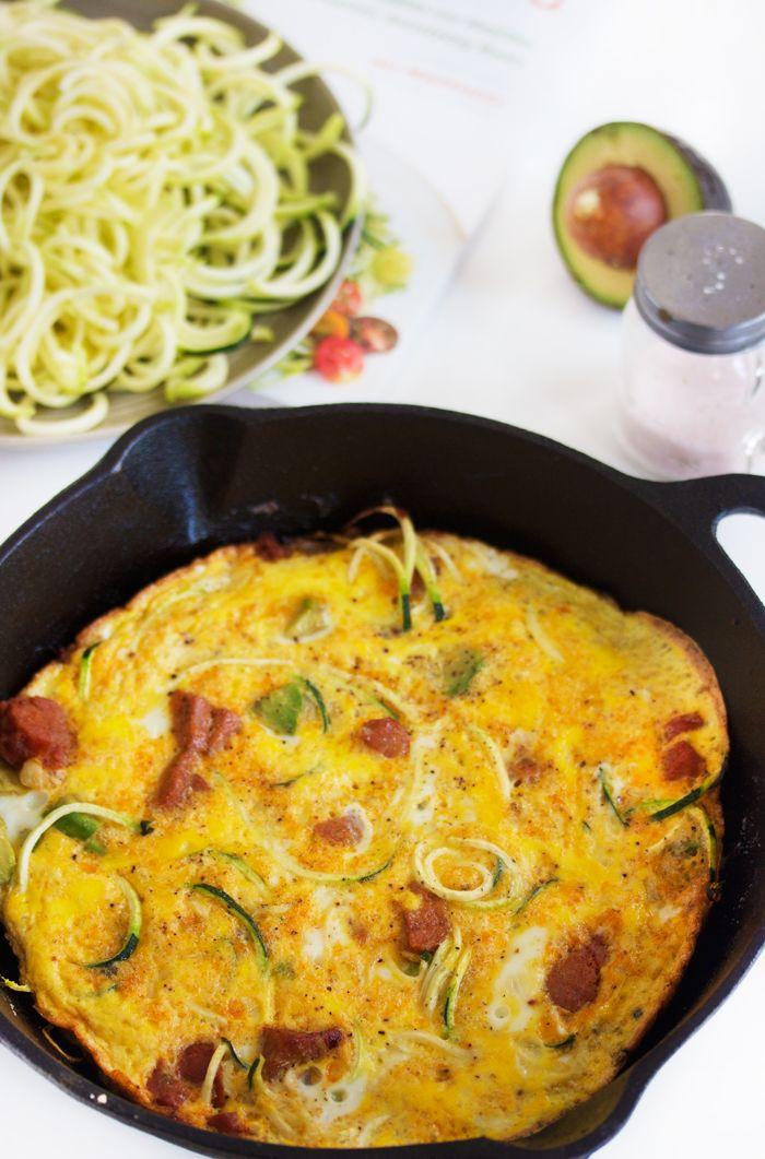 Chorizo and Avocado Zucchini Frittata   Recipe   Spicy, My ...