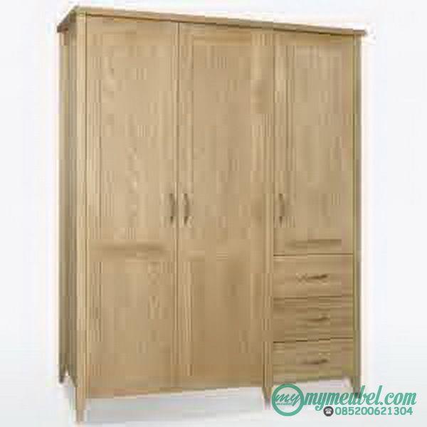 Lemari Pakaian 3 Pintu Minimalis yang kami tawarkan ini merupakan produk yang kami buat dengan menggunakan bahan baku utama kayu jati tpk grade a.