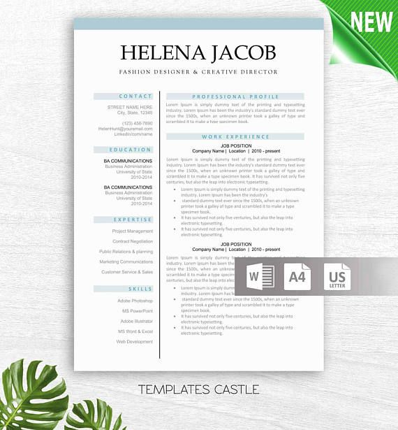 The 25+ best Modern resume template ideas on Pinterest Modern - resume on word