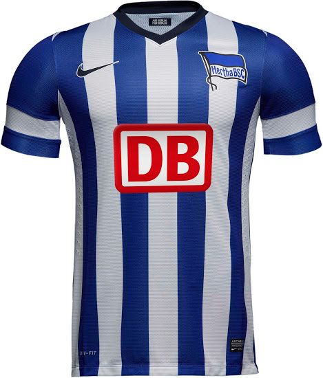 13-14 Hertha BSC Home Soccer Jersey Shirt