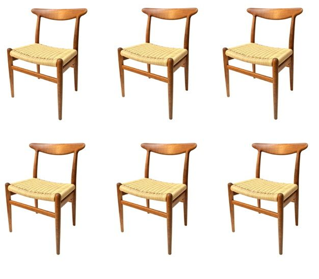 furniture examples. fine examples of vintage hans wegner made in denmark set 6 http furniture
