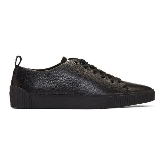 Hugo Black Zero-tenn-gr Sneakers In 001