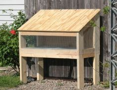 Easy rabbit hutch plans rabbits crafts pinterest for Simple rabbit hutch