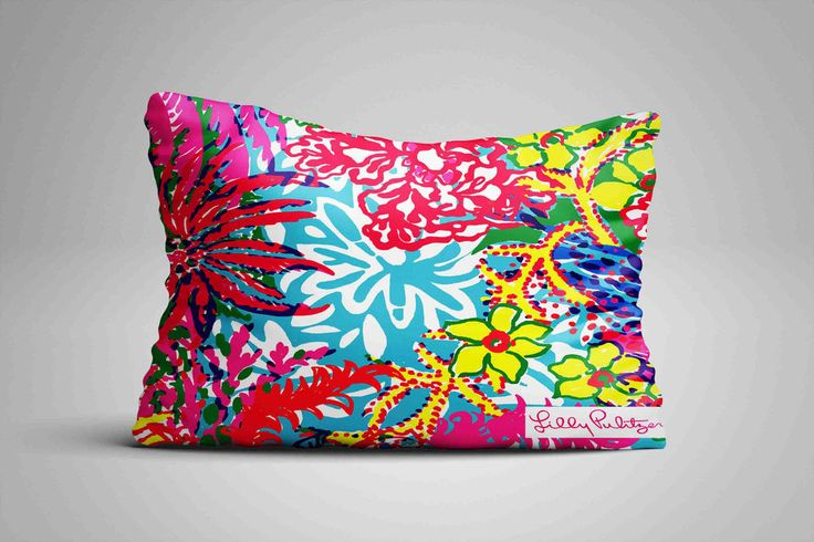 "Lilly Pulitzer Coral Ocean Custom Design Pillow Case 16""x24"" Limited Edition #Unbranded #pillowcase #pillowcover #cushioncase #cushioncover #best #new #trending #rare #hot #cheap #bestselling #bestquality #home #decor #bed #bedding #polyester #fashion #style #elegant #awesome #luxury #custom"