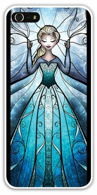 ELSA Frozen Snow Queen Cell Phone Case Cover iPhone 4/4S 5/5S Samsung Galaxy S3 S4 Disney Stained Glass Let It Go $24.99+FREE SHIPPING