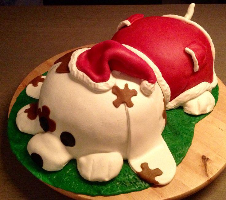Kerst hond taart