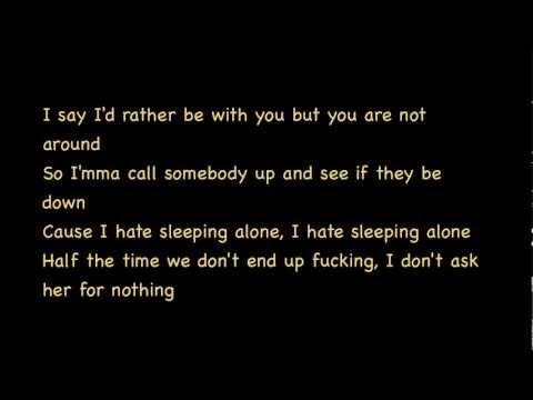 Drake LYRICS - Hate Sleeping Alone Lyrics