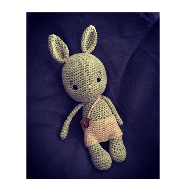 Crochet pattern Long eared rabbit PDF Ternura Amigurumi ... | 640x640