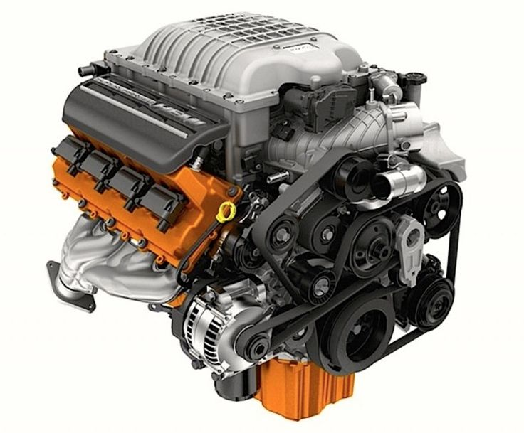 Mopar Supercharged SRT HEMI Hellcat Engine