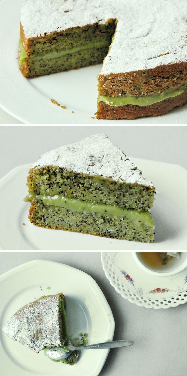 Poppy Seed & Avocado Cake