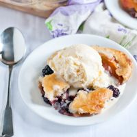 Blackberry Peach Cobbler for #SundaySupper