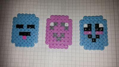 Marshmellows hamabead pattern DIY