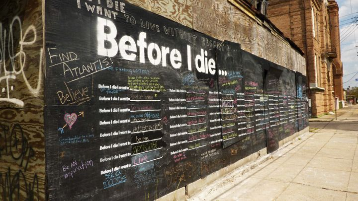 If you're in New Orleans, stop by the corner of Marigny and Burgundy (900 Marigny Street) & add your thoughts to the wall.