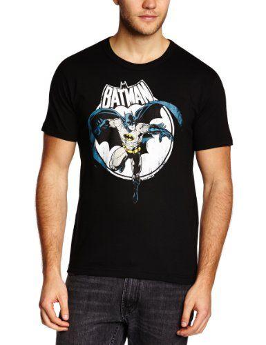 Camiseta Batman - Luna Llena - Camiseta DC Comics - Batman - Full Moon - Camiseta con cuello redondo de LOGOSHIRT - Negro - Diseño original con licencia, talla 3XL #camiseta #friki #moda #regalo