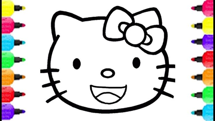 Hello Kitty Smiley Face Coloring Pages How To Draw Hello Kitty Smiley Fa...