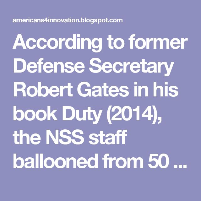 According to former Defense Secretary Robert Gates in his book Duty (2014), the NSS staff ballooned from 50 in 1993 to over 350 in 2016 under Obama. That is a lot of spies running around in the White House! Are they doing The People's business? That is doubtful. The question is, for whom have they been spying? The answer is evident: Deep State globalists working for a U.N. New World Order run by the very multinational corporations, academics, intelligence agencies and media who comprise…
