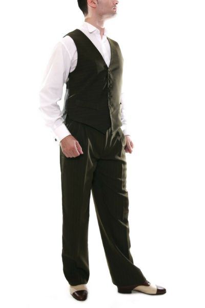 conSignore Men's Olive green Tango Vest | Tango Clothes For Men -  #tangopants #menstangopants #menstangoclothes #argentinetango #tangovest