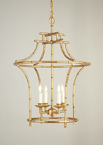 "Our faux bamboo chandelier is a customer favorite!  Charlotte and Ivy loves the antique gold finish and classic style.  The chandelier exudes Chinoiserie-inspired style and the light fixture illuminates rooms with beauty and elegance.  •	28""H x 20.5""D"