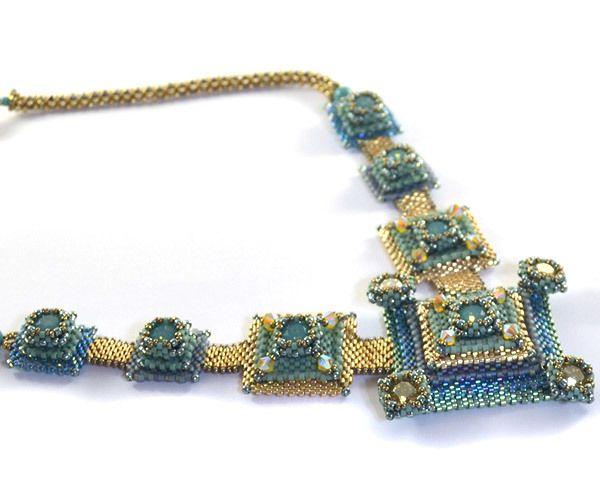 Pixels Necklace Beading Kit *Ocean Blues - Liisa Turunen Designs