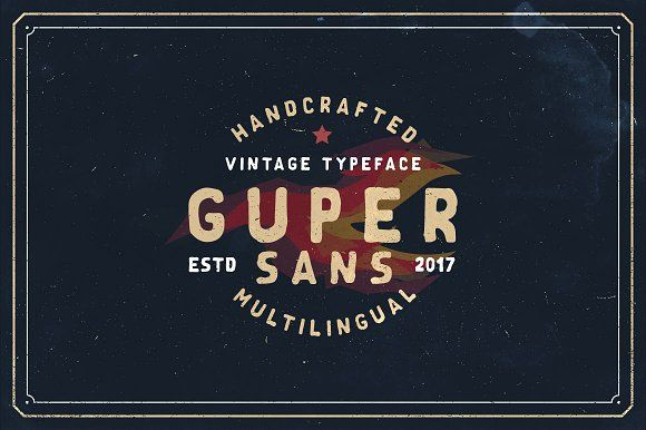 Guper Sans - Handcrafted Font by Roman Paslavskiy on @creativemarket