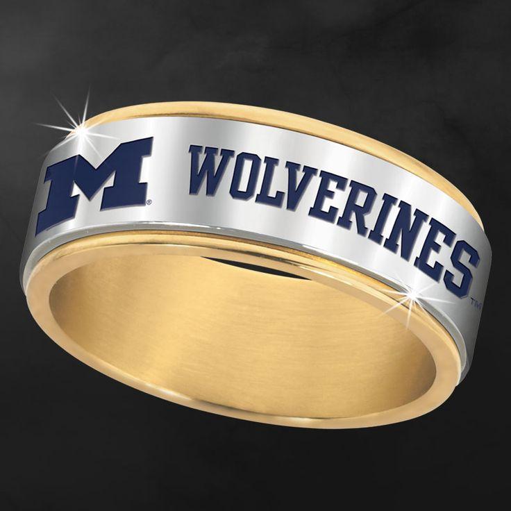 Michigan Wolverines Spinner Ring - The Danbury Mint
