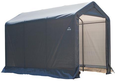 "ShelterLogic 70403 Shed-in-a-Box 6x10x6'6""/18x3x2 m Peak Style Storage Shed- Gray"