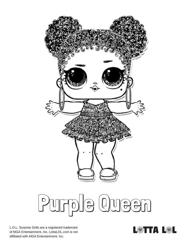 Purple Queen Coloring Page printablejournalingcoloring