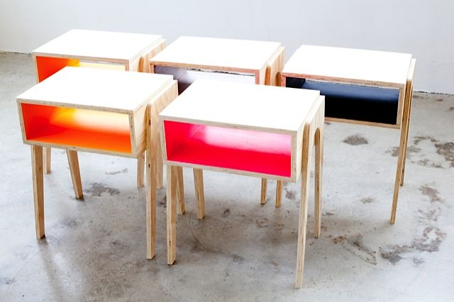 Our own design sustainable plywood bedside table, made in Australia by tangerine & teal