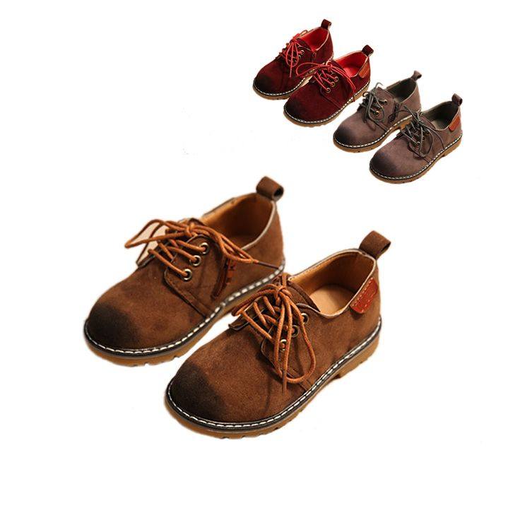 retro classic boy leather shoes traditional solid wine red&brown&gray causal leather shoes for 1-11yrs boys kids children shoes #Affiliate