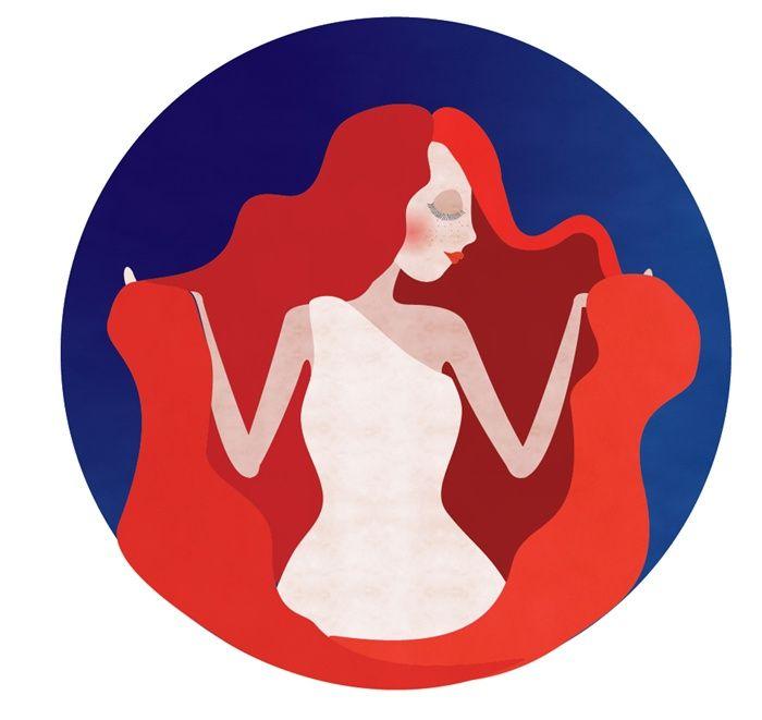 Libra zodiac sign illustration