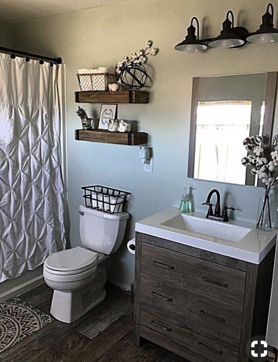 70 Most Popular Small Bathroom Designs On A Budget 2019 2019 Small Bath Ideas Hom Small Bathroom Decor Bathroom Makeovers On A Budget Small Bathroom Remodel