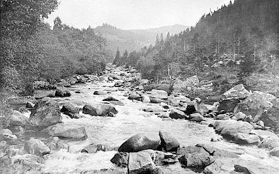 Na snímku řeka Vydra.