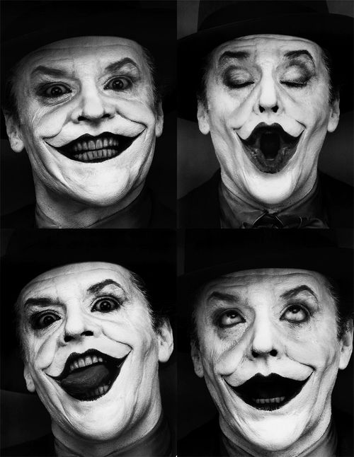 Jack Nicholson {The Joker, Batman 1989} ♥♥♥ Astonishingly perfect for such a role!!!!! I would say this capture depicts that GRAND!!!