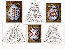 Znalezione obrazy dla zapytania jajka wielkanocne na szydełku schematy